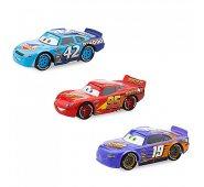 Набор из трех тачек Маквин, Кэл Везерс (№42), Бобби Свифт (№19) Cars 3