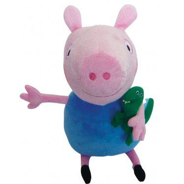 Мягкая игрушка Свинка Пеппа - Джордж с динозавром 30 см