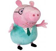 Мягкая игрушка Свинка Пеппа - Папа Свин с галстуком 30 см