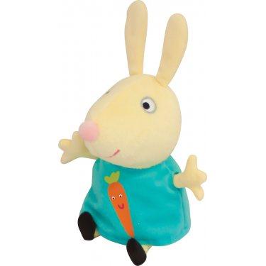 Мягкая игрушка Свинка Пеппа - Ребекка с морковкой 20 см
