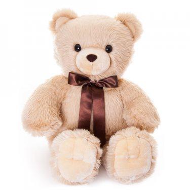 Плюшевый Большой Сидячий Белый Медведь с Бантом Аврора (100 см)