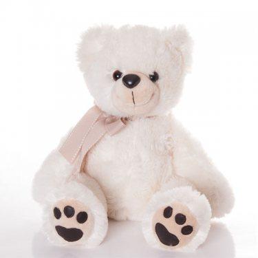 Плюшевая Игрушка Белый Сидячий Медведь Аврора (36 см)