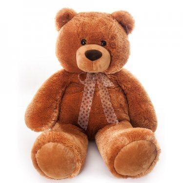 Мягкая Игрушка Коричневый Сидячий Медведь Аврора (70 см)