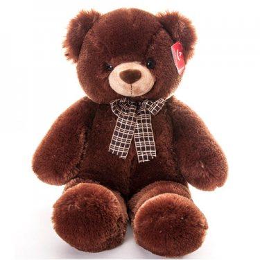 Плюшевый Коричневый Медведь с Бантом Аврора (69 см)