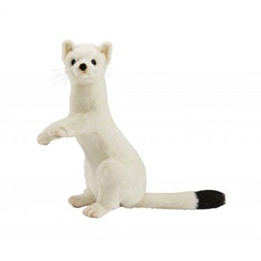 Мягкая игрушка Hansa 4860 Горностай (зимний окрас), 30 см