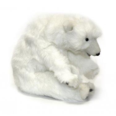 Мягкая игрушка Белый медвежонок спящий 5260, 30 см, Hansa