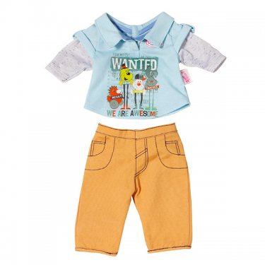 Желтая Стильная одежда для мальчика Бэби Борн (Zapf Creation)