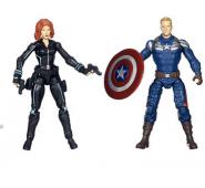 Эксклюзивный набор Капитан Америка и Черная вдова (10 см)