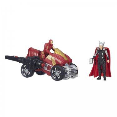 Фигурки Мстители Тор и Железеый человек на квадроцикле (7 см)