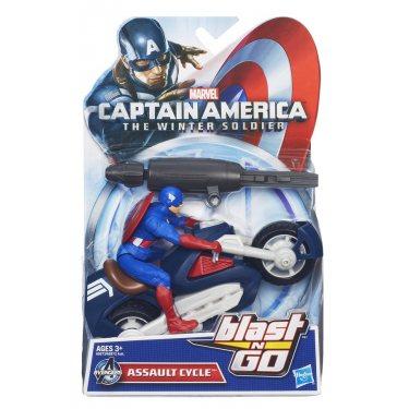 Мстители Марвел Капитан Америка на мотоцикле