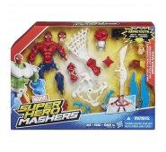 Человек Паук с набором паутины фигурка разборная Super Hero Mashers