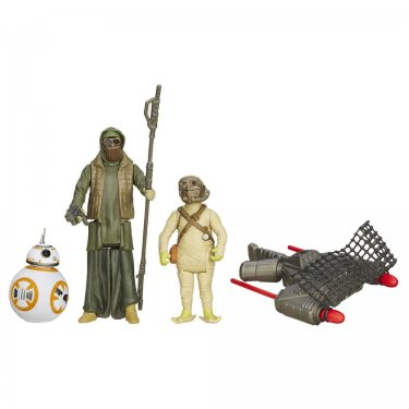 Стар Варс Набор Дроид BB-8, Старьевщик с планеты Джакку и Головорез Ункара (9,5 см)