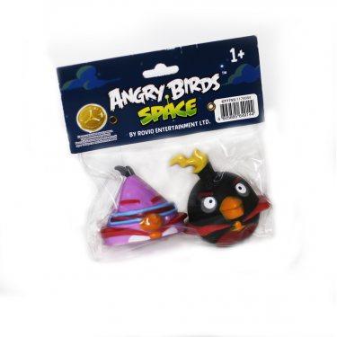 Две фигурки Энгри Бердз (Лазерная Птичка и Космо-Бомб) в блистере