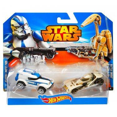 Машинки Hot Wheels Солдат Клон 501 и Боевой Дроид (Звездные войны)