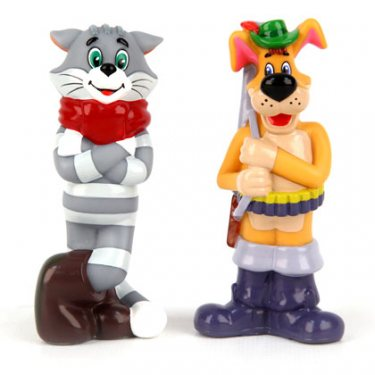 Игрушки для ванной Матроскин и Шарик из Простоквашино (9,5 см)