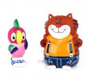 Игрушки для ванной Попугай Кеша и Кот (9,5 см)