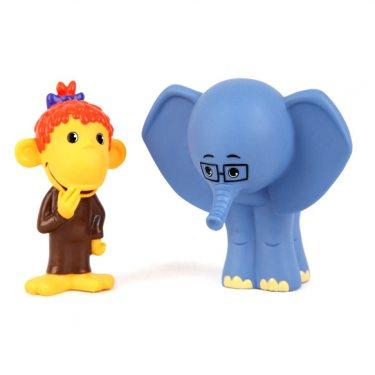 Фигурки Слоненок и Обезьянка 38 Попугаев (10 см) - игрушки для ванной