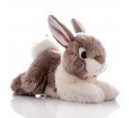 Мягкая игрушка Aurora Аврора Кролик серый, 28 см