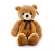 Мягкая игрушка Aurora Аврора Медведь коричневый с бантом, 65 см