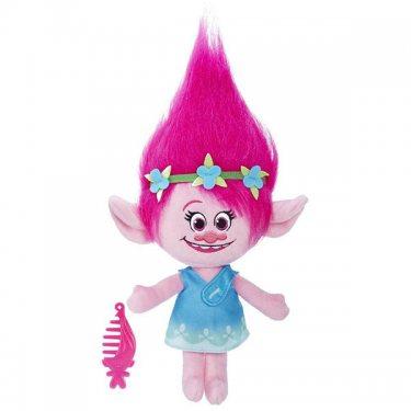Мягкие игрушки Hasbro Trolls B7772 Тролли Говорящая Поппи