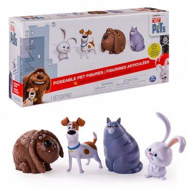 Набор 4 фигурки героев из мультфильма Тайная жизнь домашних животных