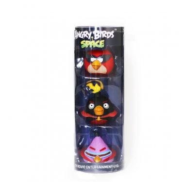 Набор из трех фигурок для ванной Энгри Бердз (Ред, Космо-Бомб, Лазерная Птичка)