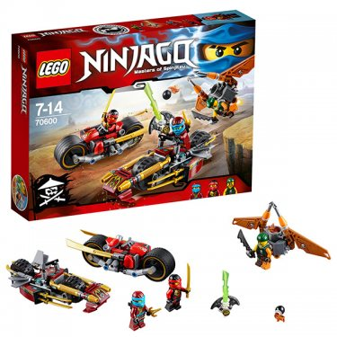 Конструктор Lego NinjagoЛего Ниндзяго Погоня на мотоциклах 70600