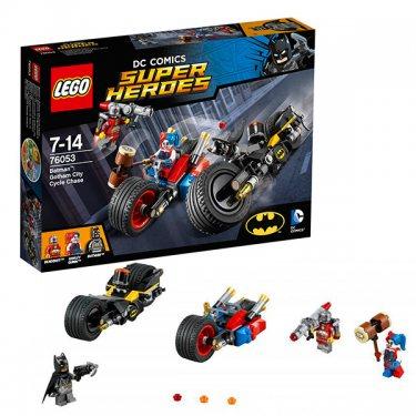 Конструктор Lego Super Heroes Лего Супер Герои Бэтмен: Погоня на мотоциклах по Готэм-сити 76053