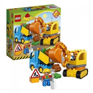 Конструктор Lego Duplo Лего Дупло Грузовик и гусеничный экскаватор 10812