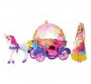 Игровой набор Barbie Барби Радужная карета и кукла