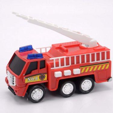 Машинка Soma 71320 Пожарная машина со световым и звуковым эффектом 12 см