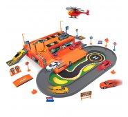 Игровой набор Welly 96030 Велли Игровой набор Гараж,  включает 3 машины и вертолет