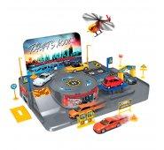Игровой набор Welly 96010 Велли Игровой набор Гараж,  включает 3 машины и вертолет