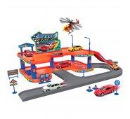 Игровой набор Welly 96040 Велли Игровой набор Гараж, включает 3 машины и вертолет