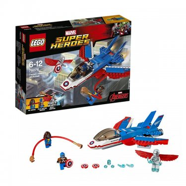 Конструктор Lego Super Heroes Лего Супер Герои Воздушная погоня Капитана Америка 76076