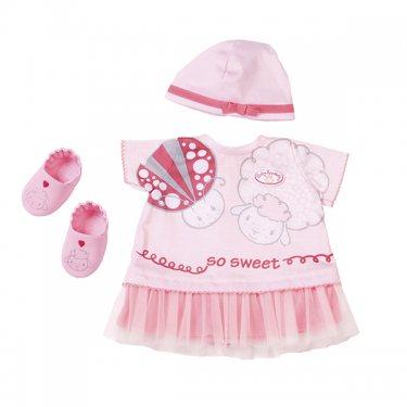 Одежда для куклы Zapf Creation Baby Annabell Летнее платье с шапочкой и тапочками