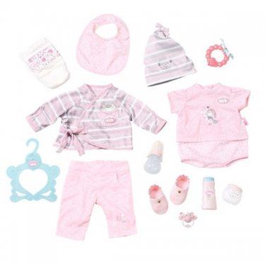 Одежда для куклы Zapf Creation Бэби Аннабель Суперкомплект одежды с аксессуарами (13 предметов)