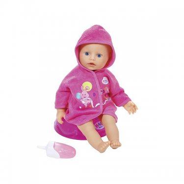 Zapf Creation Baby born Кукла (32 см) быстросохнущая в халатике, с ночным горшком и бутылочкой