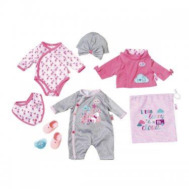 Одежда для куклы Zapf Creation Бэби Борн Комплект одежды и обуви делюкс (8 предметов)