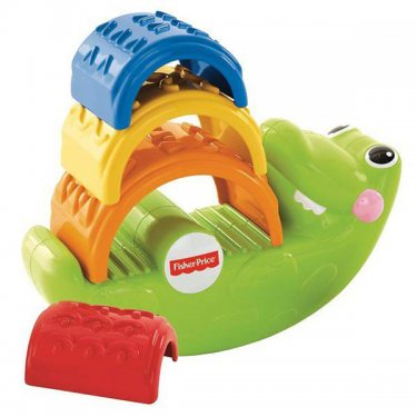 """Развивающие игрушки Fisher-Price Фишер Прайс Игрушка-пирамидка """"Крокодильчик"""""""