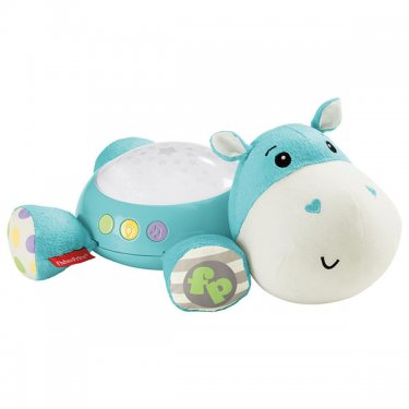"Развивающие игрушки Fisher-Price Фишер Прайс Плюшевая игрушка-проектор ""Бегемотик"""