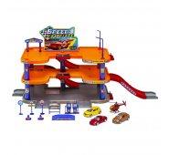 Игровой набор Welly Велли Игровой набор Гараж, 3 уровня, включает 3 машины и вертолет