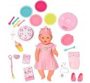 Zapf Creation Baby born Интерактивная Нарядная Кукла с тортом, 43 см