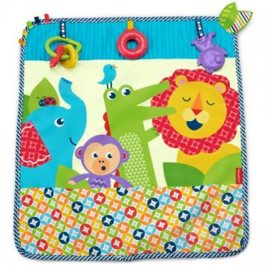 """Развивающие игрушки для малышей Mattel Fisher-Price Фишер Прайс Мягкое одеяло """"Пойдем на прогулку"""""""