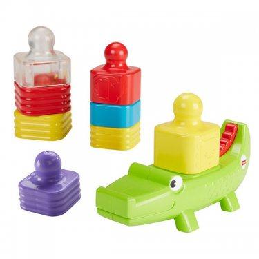 """Развивающие игрушки для малышей Mattel Fisher-Price Игрушка-пирамидка """"Веселый крокодил"""""""