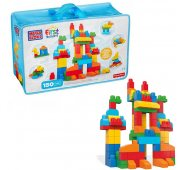 Конструктор Mattel Mega Bloks Мега Блокс Обучающий Большой конструктор в сумке 150 дет.