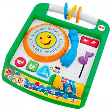 """Развивающие игрушки для малышей Mattel Fisher-Price Фишер Прайс """"Смейся и учись"""" Музыкальная панель Ученого Щенка"""