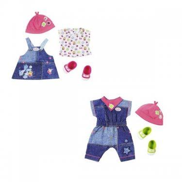 Аксессуары для куклы Zapf Creation Baby born  Одежда Джинсовая мода (в асс.)