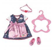 Zapf Creation Baby born Комплект одежды Платье с передником, балетки, лента на голову