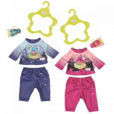 Одежда для куклы Zapf Creation Baby born Пижамный костюмчик и светлячок-ночник (в асс.)